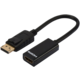 Ednet redukce DP - HDMI, 0.15m, DP 1.2 comp., zlatá