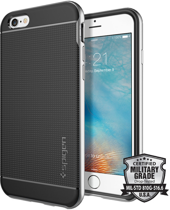 Spigen Neo Hybrid ochranný kryt pro iPhone 6/6s, satin silver