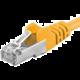 Premiumcord Patch kabel CAT6a S-FTP, RJ45-RJ45, AWG 26/7 0,25m žlutá