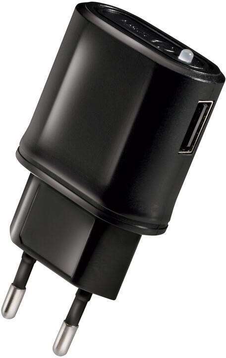 CELLY cestovní síťová nabíječka USB 1A, černá