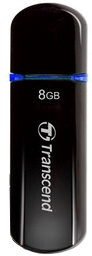 Transcend JetFlash V600 8GB, černo/modrý