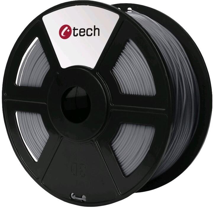 C-TECH tisková struna (filament), ASA, 1,75mm, 1kg, stříbrná