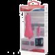 CELLY autonabíječka microUSB, 1A, růžová