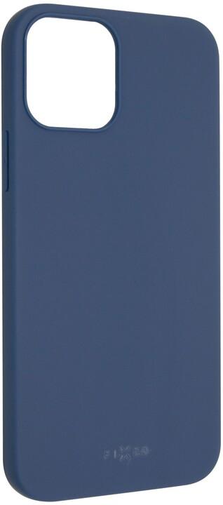 """FIXED pogumovaný kryt Story pro iPhone 12/12 Pro (6.1""""), modrá"""