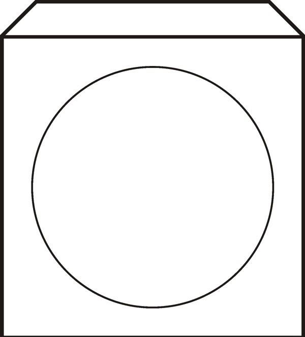 Papírová obálka pro CD nebo DVD s okénkem, lepící, 10ks
