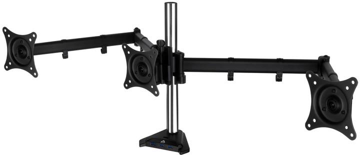 Arctic Z3 Pro Gen 3 stolní držák pro 3x LCD, USB 3.0 HUB, černá
