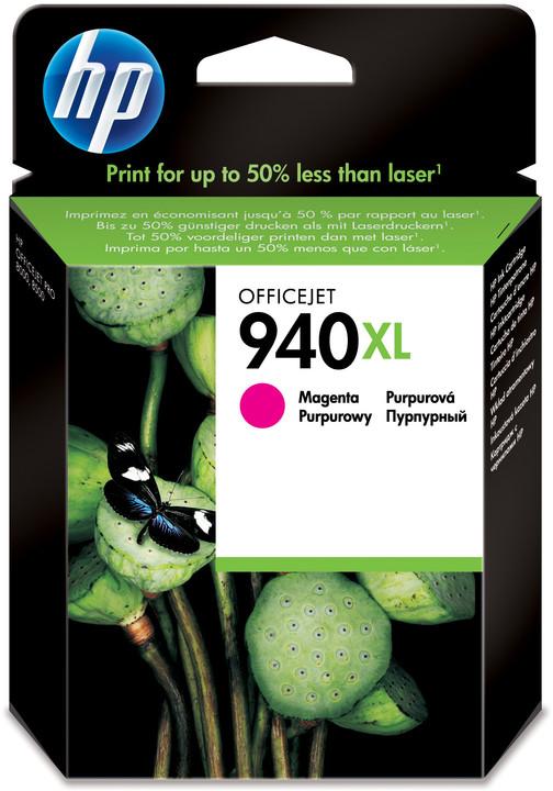 HP C4908AE, č. 940XL, purpurová – ušetřete až 50 % oproti standardní náplni