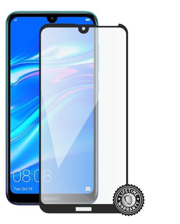 Screenshield ochrana displeje Tempered Glass pro Huawei Y7 (2019), Full Cover, černá