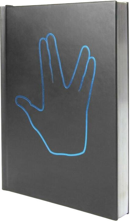 Zápisník Star Trek - Spock Journal, čtverečkovaný, pevná vazba, A5