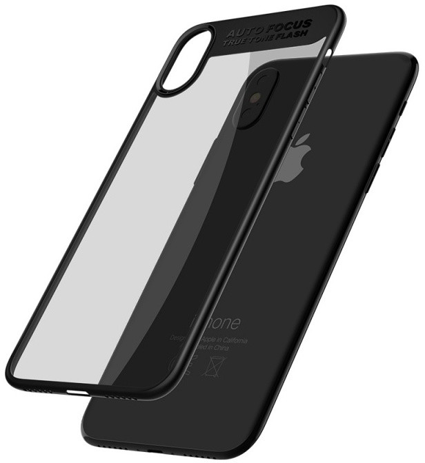 Mcdodo iPhone X Dual Clear Bumper Case (PC+ TPU), Black
