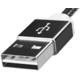 ADATA Micro USB kabel pletený, 1m, černý