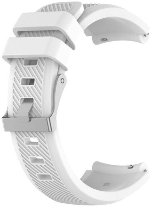 ESES silikonový řemínek pro Samsung Galaxy Watch 46mm/ Samsung Gear S3, bílá
