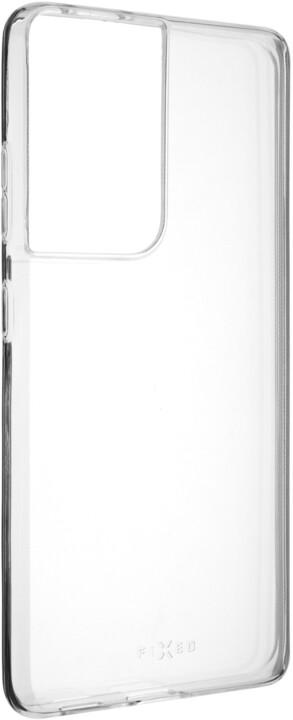 FIXED ultratenké TPU gelové pouzdro Skin pro Samsung Galaxy S21 Ultra, 0,6 mm, transparentní