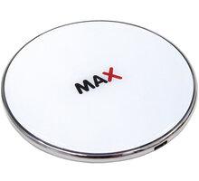 MAX bezdrátová nabíječka 7.5W/10W/15W, bílá