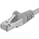 PremiumCord Patch kabel UTP RJ45-RJ45 level 5e, 0.1m, šedá
