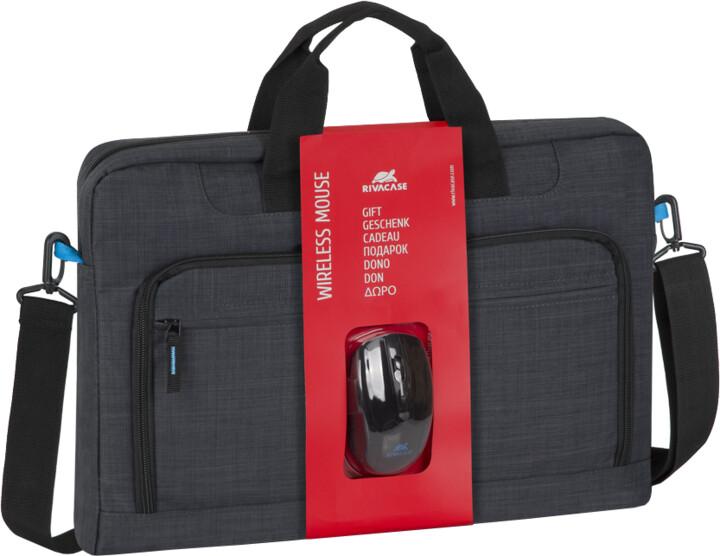 """RivaCase 8058 brašna na notebook 17,3"""" + bezdrátová myš"""