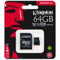 Kingston Micro SDXC Canvas Go! 64GB 90MB/s UHS-I U3 + SD adaptér