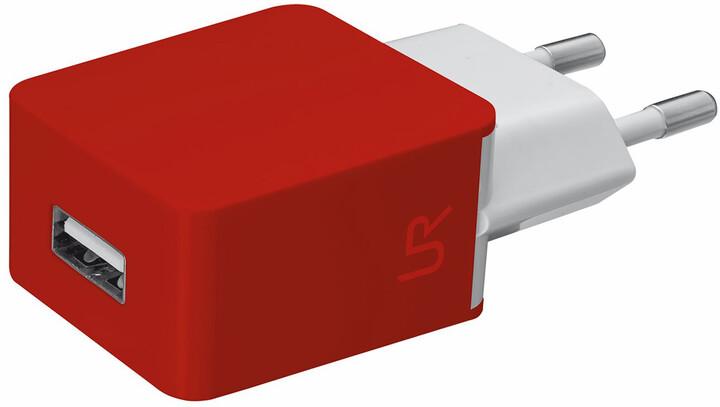 Trust USB nabíječka 5W, 1A, červená