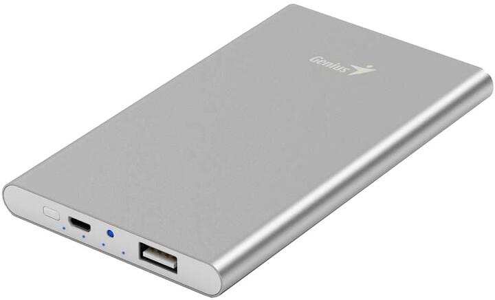 Genius powerbank ECO-u540, stříbrná