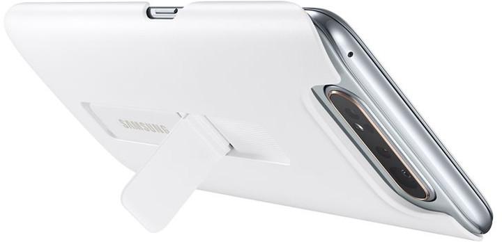 Samsung zadní kryt se stojánkem pro Galaxy A80, bílý