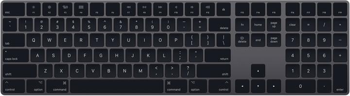 Apple Magic Keyboard s numerickou klávesnicí, šedá, UK