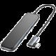 BASEUS multifunkční HUB USB-C (3x USB-A 3.0, 4K HDMI, USB-C PD), šedá