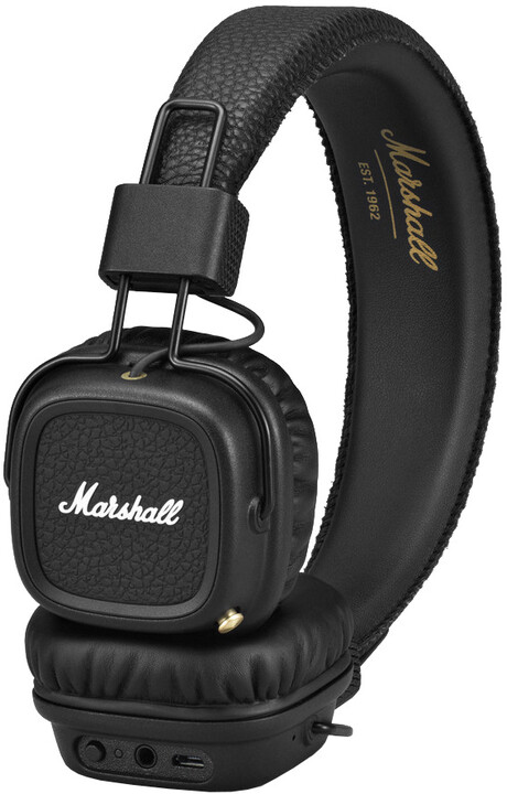 Marshall Major II Bluetooth, černá