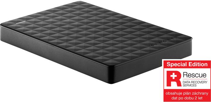 Seagate Expansion Portable - 2TB, černá, Rescue plan