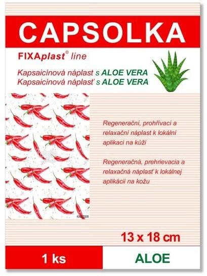 Náplast CAPSOLKA ALOE, hřejivá, kapsaicínová, 1 ks (13x18cm)