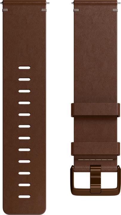 Fitbit Versa Leather Cognac - náhradní pásek velikost L