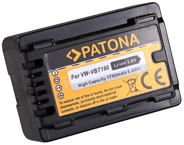Patona baterie pro foto Panasonic VW-VBT190, 1780mAh, Li-Ion