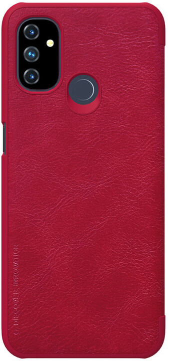 Nillkin Qin Book pouzdro pro OnePlus Nord N100 , červená