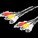 PremiumCord Kabel 3x CINCH-3x CINCH M/M 10m