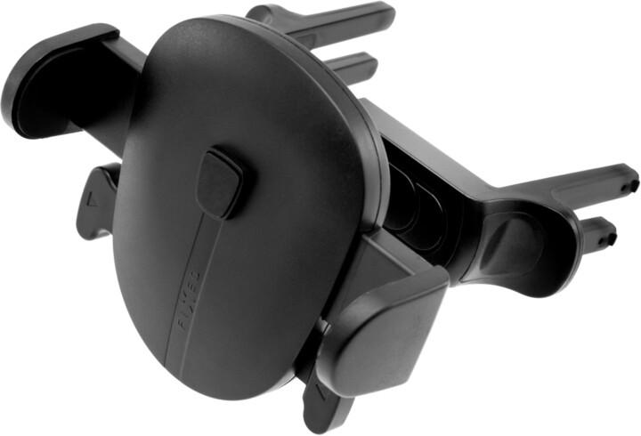 FIXED univerzální držák Click Round, do kulaté mřížky ventilace, černá