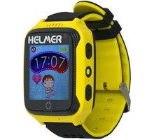 Helmer LK 707 dětské hodinky s GPS lokátorem s možností volání, fotoaparátem žluté - LOKHEL1036