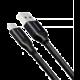 AXAGON BUCM3-AM05B, SUPERSPEED kabel USB-C - USB-A 3.2 Gen 1, 0.5m, 3A, oplet, černá