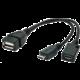 Gembird CABLEXPERT kabel USB AF/micro BM + micro BF, OTG + dobíjení, 15cm, pro tablety a smartphone