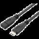 PremiumCord prodlužovací kabel USB 3.1 generation 2, konektor C/male - C/female, 1m, černá