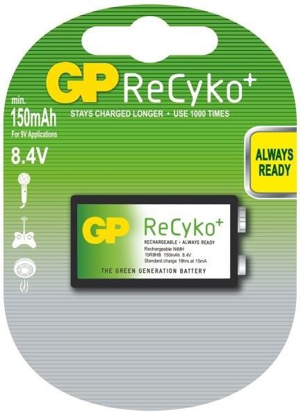 GP Recyko+ 9V Ni-MH 150mAh, 1ks