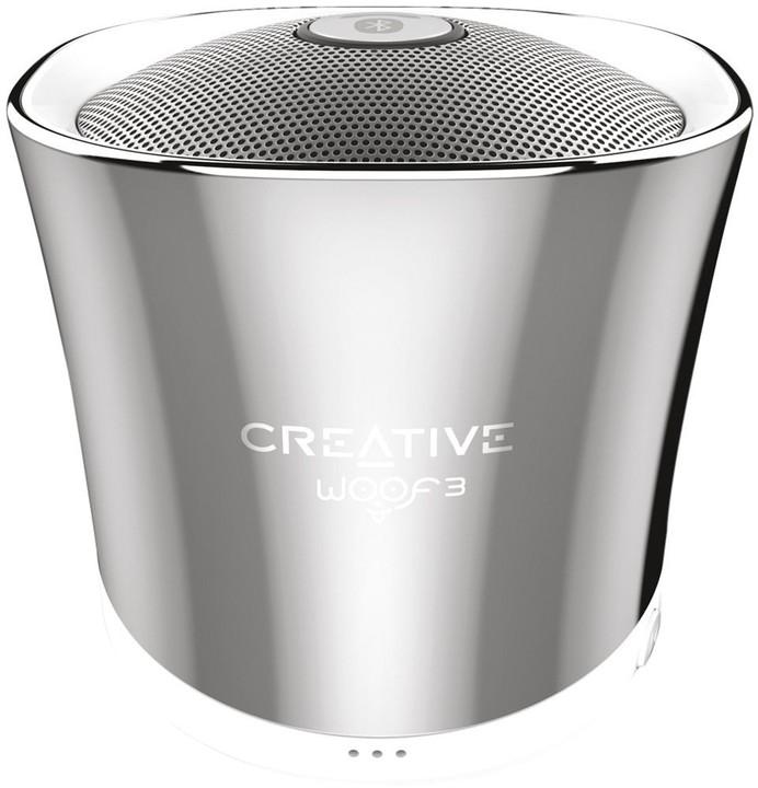 Creative WOOF3, stříbrná
