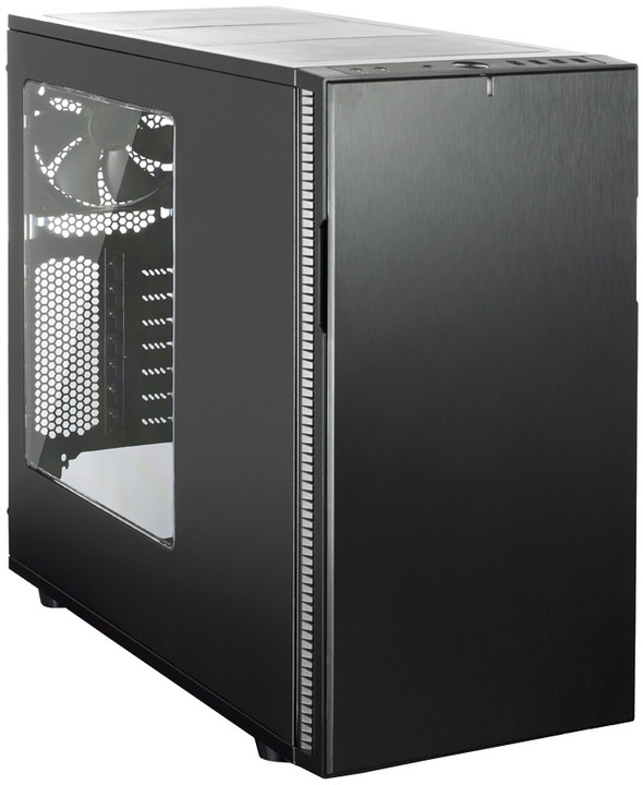 Fractal Design Define R5 Blackout Edition, černá, okno