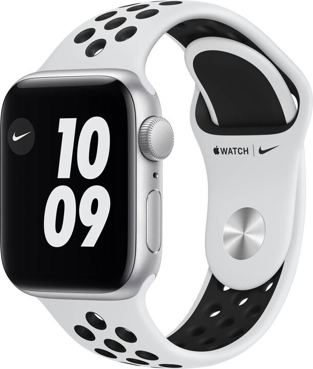Apple Watch Nike SE, 40mm, Silver, Pure Platinum/Black Nike Sport Band