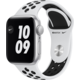 Apple Watch Nike SE, 40mm, Silver, Pure Platinum/Black Nike Sport Band Epico řemínek Canvas pro Apple Watch 38/40mm, černá v hodnotě 549 Kč + O2 TV Sport Pack na 3 měsíce (max. 1x na objednávku)