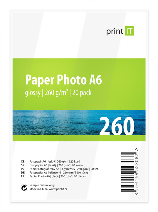 PRINT IT Paper Photo A6 260 g/m2 Glossy 20ks