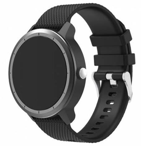 ESES silikonový řemínek pro Garmin Vivoactive 3, černá