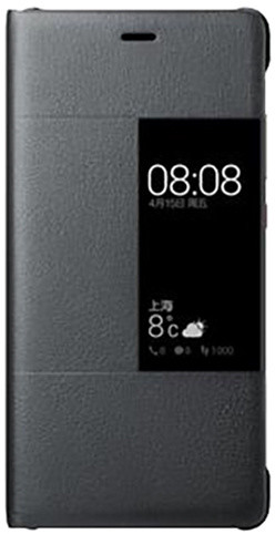 Huawei Original S-View Pouzdro Dark Grey pro P9 (EU Blister)