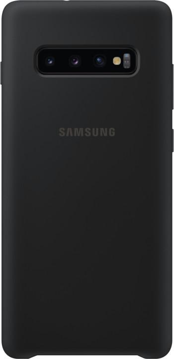 Samsung silikonový zadní kryt pro Samsung G975 Galaxy S10+, černá