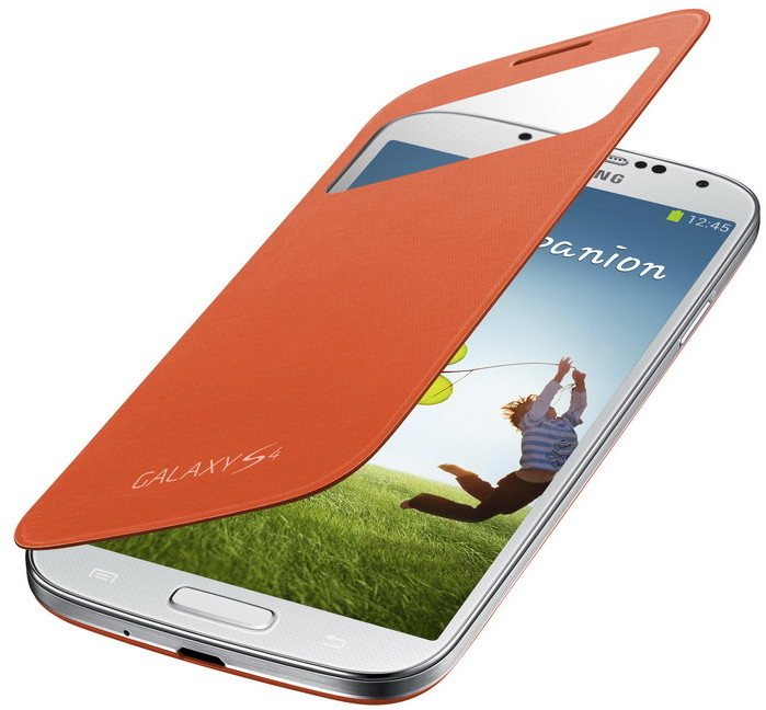 Samsung flipové pouzdro S-view EF-CI950BO pro Galaxy S4, oranžová