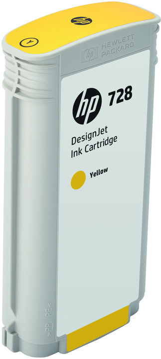 HP F9J65A no. 728 (130ml), yellow