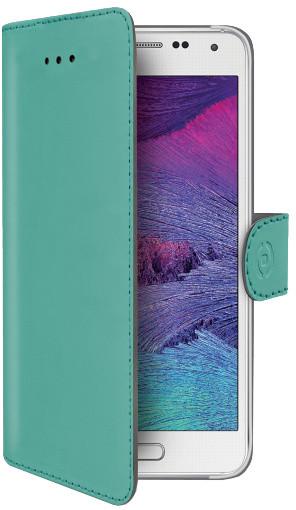 CELLY Wally pouzdro typu kniha pro Samsung Galaxy S6, PU kůže, tyrkysová
